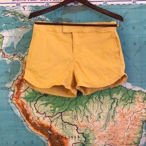 Modcloth yellow shorts